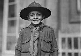 Lewis Wickes Hine, The charter member of the Red Cross Boy Scout Troop Paris, September 1918 - Library of Congress.jpg