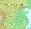 Li Zicheng's rebellion 1637-1644.jpg