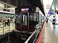 Limited Express for Omuta Station at Nishitetsu-Fukuoka (Tenjin) Station 2.jpg