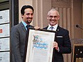 Lin-Manuel Miranda Hollywood Walk of Fame ceremony (with Los Angeles City Councilman Mitch O'Farrell) (46123909791).jpg