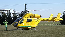 Lincs and Notts air ambulance at Bourne rugby club - geograph.org.uk - 1760479.jpg