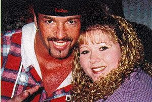 Buff Bagwell - Bagwell with a fan during his time in WCW.