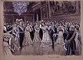 Lisboa, Baile en el palacio de Ajuda, Dic.1903, RABASF, painting by Mariano Pedrero.jpg