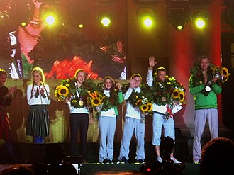 Lithuania at the 2012 Summer Olympics - Medalists greeting in Vilnius
