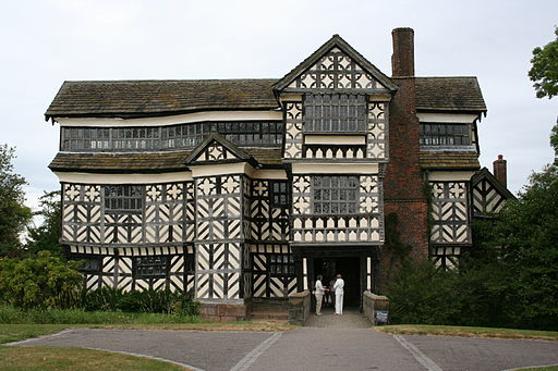 Little Moreton Hall Tudor Houses Are Famous For Their Black And White
