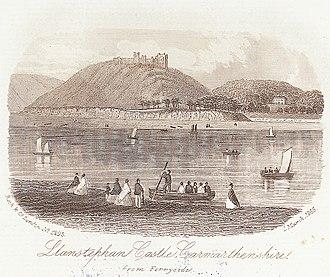 Llansteffan - Llansteffan Castle (1865 engraving)