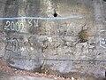 Lobečská skála, povodňové značky.jpg