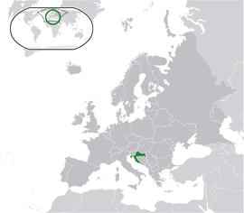 Localização da Croácia