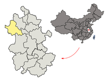 Location of Fuyang Prefecture within Anhui (China).png