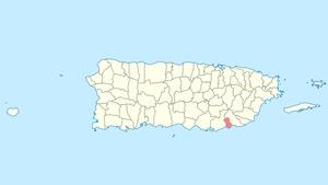 Arroyo, Puerto Rico - Image: Locator map Puerto Rico Arroyo