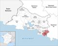 Locator map of Kanton La Ciotat.png