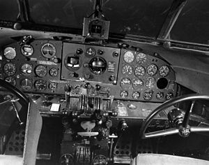 Lockheed Model 12 Electra Junior - Cockpit of a C-40A, a U.S. Army version of the Lockheed 12