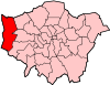 Location of the London Borough of Hillingdon in Greater London