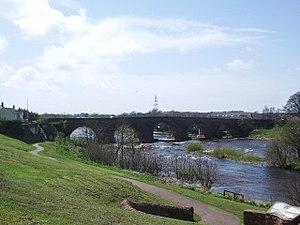 Longtown, Cumbria - Image: Longtown Bridge over the River Esk