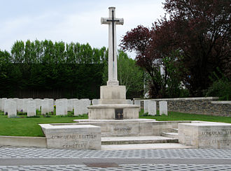 Clive Crowley - Crowley is buried in the Longueau British Cemetery in France