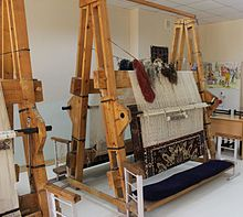 Looms for carpet in the school craft room 03.jpg