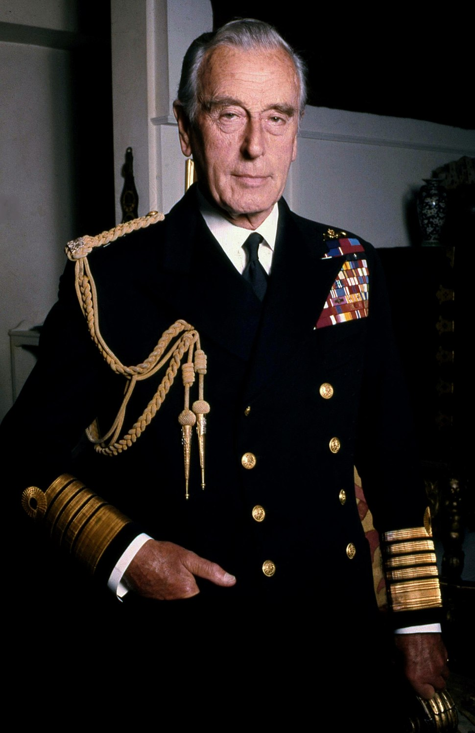 Lord Mountbatten Naval in colour Allan Warren