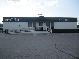 Lorena, Texas - Lorena City Hall is located off Interstate 35.
