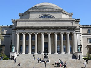 Low Memorial Library - Image: Low Memorial Library Columbia University College Walk Court Yard 05