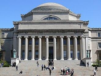 Low Memorial Library - Image: Low Memorial Library Columbia University College Walk Court Yard 05