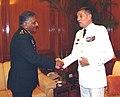Lt. Gen. Benoit Puga, MA to President of France, called on the Chief of Army Staff, Gen. V.K. Singh, in New Delhi on December 06, 2010.jpg