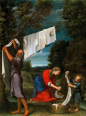 Lucio Massari - Lucio Massari painting The Holy Family