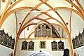Ludmannsdorf Pfarrkirche Orgelempore und Kreuzrippengewoelbe 20110616 922.jpg