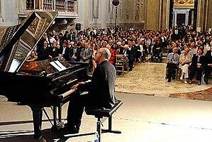 Italiano: Ludovico Einaudi durante il Concerto...