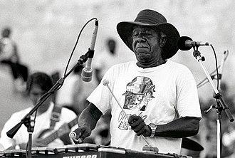 Culture of North Omaha, Nebraska - Luigi Waites playing vibraphone.
