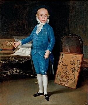 Luis María de Borbón y Vallabriga, 14th Count of Chinchón - Image: Luis María de Borbón y Vallabriga (as child) by Goya