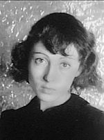 Luise Rainer facing front