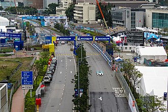 2019 Hong Kong ePrix - Lung Wo Road on the day of the race.