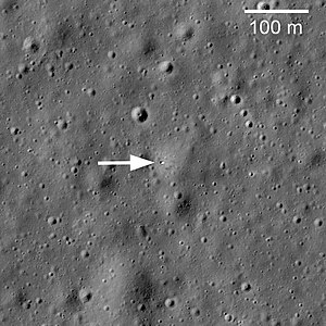 Lunokhod 1 - LRO image from 2010