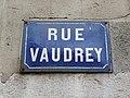 Lyon 3e - Rue Vaudrey - Plaque (janv 2019).jpg