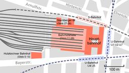 München Hauptbahnhof Lageplan