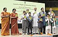 M.M. Pallam Raju launching the RTE Anthem, at a function, in New Delhi on August 29, 2013. The Minister of State for Human Resource Development, Dr. Shashi Tharoor and the lyricist and MP, Shri Javed Akhtar are also seen.jpg