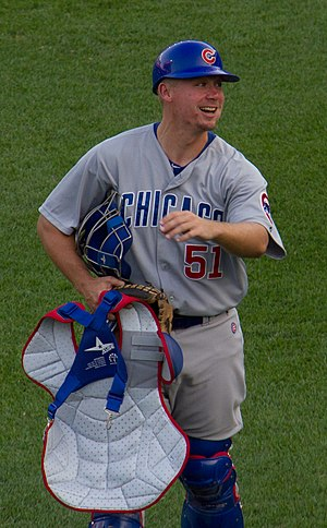Steve Clevenger - Clevenger during his tenure with the Chicago Cubs in 2012