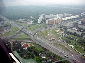 M8 highway (Russia) - The juncture of the Moscow Ring Road and M8.