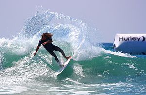 Rob Machado - Professional surfer Rob Machado performs a cutback at Lower Trestles in Southern California.