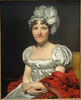 Marguerite Charlotte Pécoul - Portrait by her husband in 1813, collection of the National Gallery of Art
