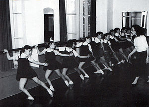 Iranian National Ballet Company - Madame Yelena's ballet class in Tehran. 1949