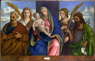 Jules Bache - Image: Madonna and Child with Saints MET DP104372
