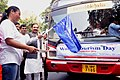"""Mahesh Sharma flagging off the """"Special Sightseeing Tour of the Monuments and Museum in Delhi arranged for Divyang Children"""", organised by India Tourism, on the occasion of """"World Tourism Day"""", in New Delhi.jpg"""