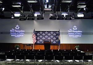 New Hampshire Institute of Politics - The main auditorium of the NHIOP