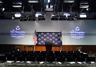 New Hampshire Institute of Politics - The main auditorium of the NHIOP