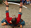 Malea about to go horizontal during her sword dance (4779194824).jpg