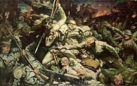 The Welsh at Mametz Wood av Christopher Williams (1918)