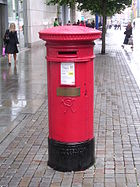 Standard red UK pillar box