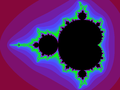 Mandelbrot set with coloured environment.png