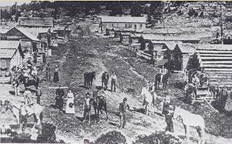 Manhattan, Colorado - Manhattan gold mining town, 1888